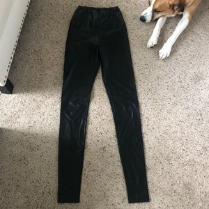 Brand New Faux Leather Pants - Aritzia
